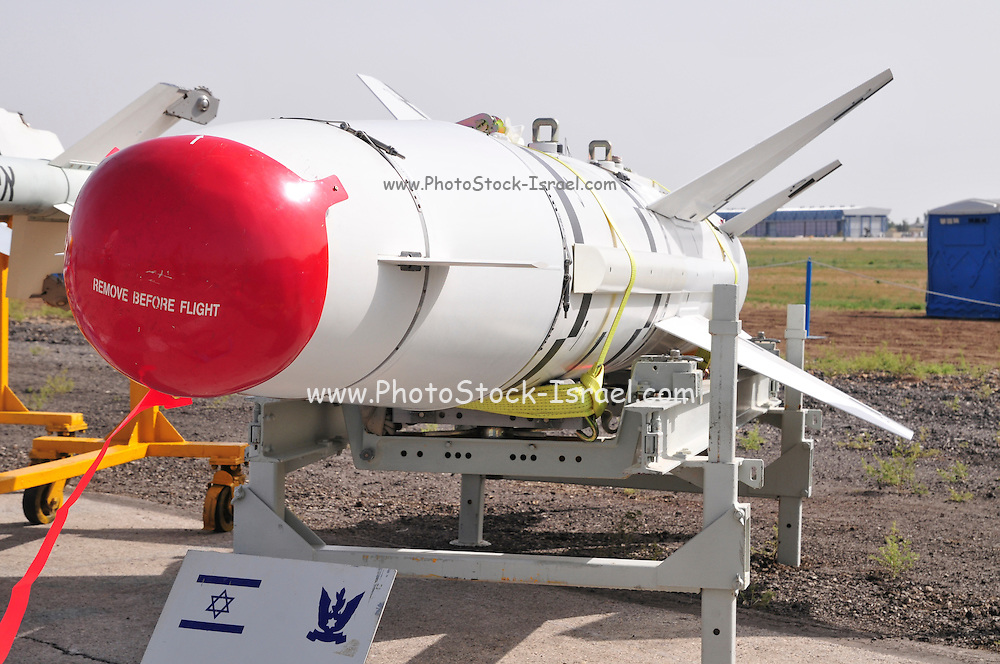 Israel, Tel Nof IAF Base, An Israeli Air force (IAF) exhibition Air to Ground guided missile