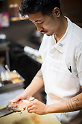 Brooklyn, NY - October 23, 2019: Photos of Calvin Eng, Chef de Cuisine at Win Son in Bushwick.<br /> <br /> <br /> Photos by Clay Williams for Eater.<br /> <br /> © Clay Williams / claywilliamsphoto.com