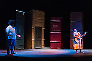 """Middletown, New York - The Apprentice Players of the SUNY Orange Arts and Communications Department peform the play """"Love's Fire"""" at Orange Hall Theatre on April 16, 2015."""