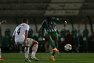 Mane of Rio Ave shoots on goal during the Europa League match between Rio Ave FC and AC Milan at Estadio dos Arcos, Vila do Conde, Portugal on 1 October 2020.