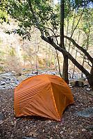Sykes Hot Springs campsite, Big Sur, California.