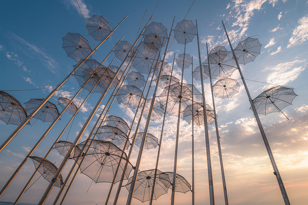 The Umbrellas by Zongolopoulos in Thessaloniki, Greece