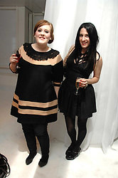 Left to right, singer ADELE ADKINS and designer AMY MOLYNEAUX at a party hosted by PPQ of Mayfair at the Fiat Flagship Store, 105 Wigmore Street, London W1 on 11th February 2008.<br />