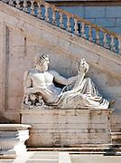 Sculpture at the Piazza Del Campidoglio,Rome, Italy.