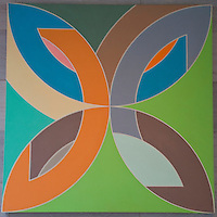 Washington DC, National Gallery. Modern painting - mandala type design