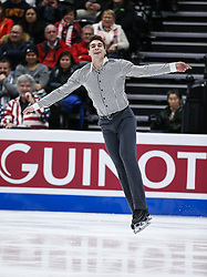 February 7, 2019 - Los Angeles, California, U.S - Nicolas Nadeau of Canada competes in the Men Short Program during the ISU Four Continents Figure Skating Championship at the Honda Center in Anaheim, California on February 7, 2019. (Credit Image: © Ringo Chiu/ZUMA Wire)