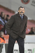 Southend United Manager Phil Brown during the Sky Bet League 1 match between Sheffield Utd and Southend United at Bramall Lane, Sheffield, England on 14 November 2015. Photo by Ian Lyall.