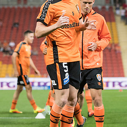 BRISBANE, AUSTRALIA - OCTOBER 7: Corey Brown of the Roar warms up during the round 1 Hyundai A-League match between the Brisbane Roar and Melbourne Victory at Suncorp Stadium on October 7, 2016 in Brisbane, Australia. (Photo by Patrick Kearney/Brisbane Roar)