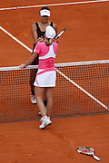 Roland Garros. Paris, France. June 9th 2007..Women's Final..Justine HENIN (front) won against Ana IVANOVIC (back).