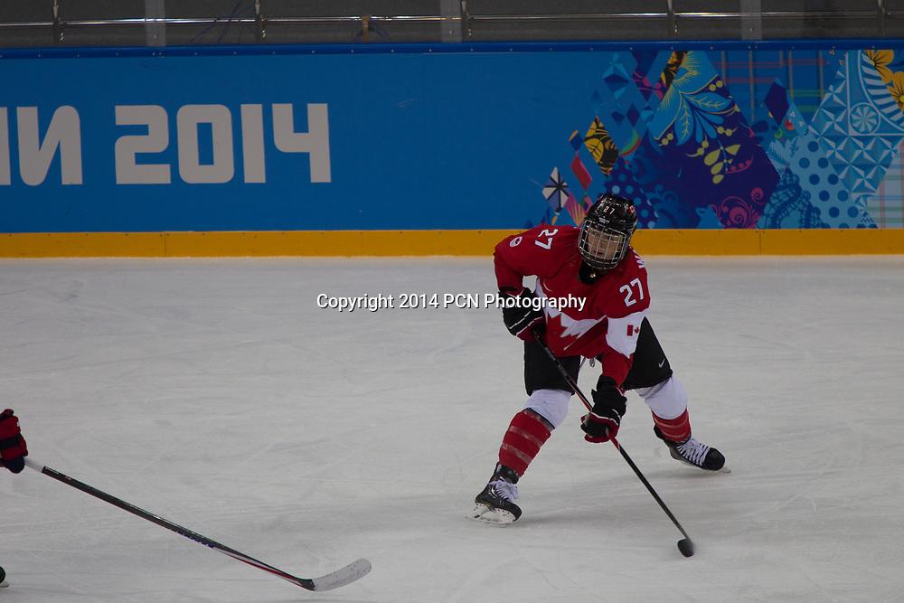 Tara Watchorn (CAN), USA-Canada Women's Ice Hockey at the Olympic Winter Games, Sochi 2014