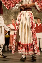 Europe, Croatia, Dalmatia, Dubrovnik.  Folk dancers in traditional costumes.