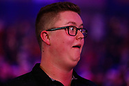 Ted Evetts pulls a face during the PDC World Championship darts at Alexandra Palace, London, United Kingdom on 14 December 2018.