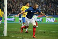 FOOTBALL - FRIENDLY GAME 2010/2011 - FRANCE v BRAZIL - 9/02/2011 - GOAL KARIM BENZEMA (FRA) - PHOTO FRANCK FAUGERE / DPPI
