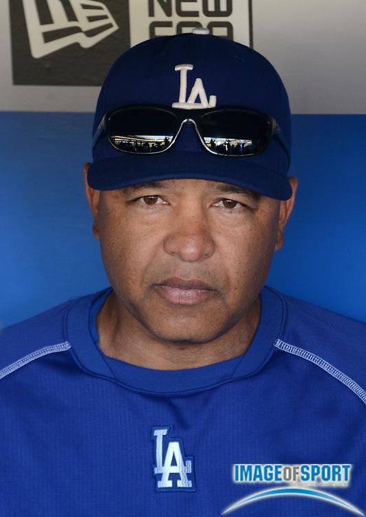 Sep 6, 2016; Los Angeles, CA, USA; Los Angeles Dodgers manager Dave Roberts (30) during a MLB game against the Arizona Diamondbacks at Dodger Stadium.