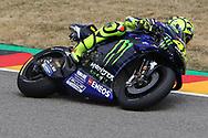 #46 Valentino Rossi, Italian: Movistar Yamaha MotoGP during the HJC Helmets Motorrad Grand Prix Deutschland at Hohenstein-Ernstthal, Chemnitz, Saxony, Germany on 5 July 2019.