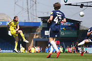 Burton Albion defender John Brayford (2) shoots at goal during the EFL Sky Bet League 1 match between Southend United and Burton Albion at Roots Hall, Southend, England on 22 April 2019.