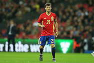David Silva of Spain looking on. England v Spain, Football international friendly at Wembley Stadium in London on Tuesday 15th November 2016.<br /> pic by John Patrick Fletcher, Andrew Orchard sports photography.