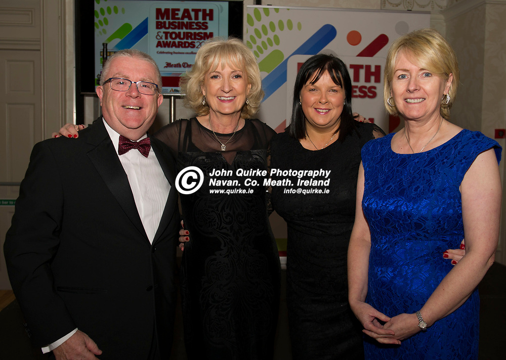 24-11-18. Meath Business and Tourism Awards 2018 at the Newgrange Hotel, Navan.<br /> L to R: Kevin Stewart, Mary McGuigan, Annette Duffy and Patricia Rogers.<br /> John Quirke / www.quirke.ie<br /> ©John Quirke Photography, Unit 17, Blackcastle Shopping Cte. Navan. Co. Meath. 046-9079044 / 087-2579454.