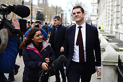 March 22, 2019 - London, London, UK - London, UK. Chief Negotiater for Exiting the EU Olly Robbins leaves the Cabinet Office. The EU27 have agreed to Prime Minister Theresa May's request for a short extension to the deadline for leaving the European Union, offering two new deadlines depending on whether she is able to pass her deal next week. (Credit Image: © Rob Pinney/London News Pictures via ZUMA Wire)