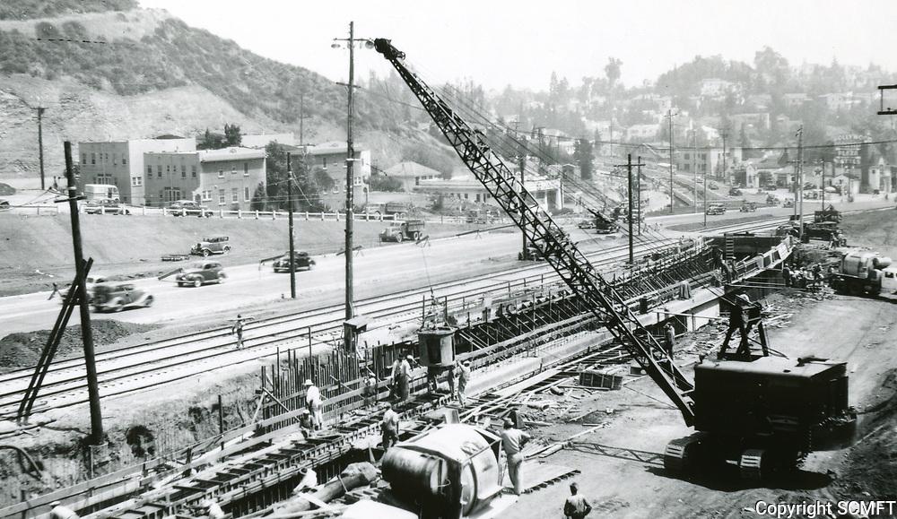 1940 Construction to widen the Cahuenga Pass