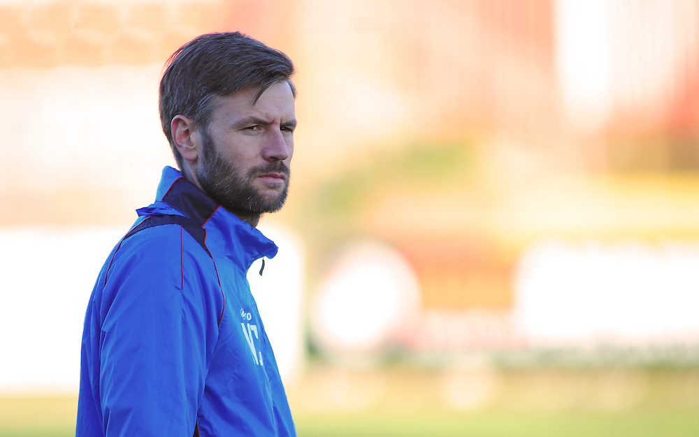 Lincoln City's assistant manager Nicky Cowley during the pre-match warm-up <br /> <br /> Photographer Andrew Vaughan/CameraSport<br /> <br /> The Buildbase FA Trophy - The Buildbase FA Trophy Second Round - Gateshead v Lincoln City - Saturday 14th January 2017 - Gateshead International Stadium - Gateshead<br />  <br /> World Copyright © 2017 CameraSport. All rights reserved. 43 Linden Ave. Countesthorpe. Leicester. England. LE8 5PG - Tel: +44 (0) 116 277 4147 - admin@camerasport.com - www.camerasport.com