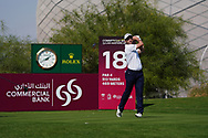 Oliver Wilson (ENG) on the 18th during Round 1 of the Commercial Bank Qatar Masters 2020 at the Education City Golf Club, Doha, Qatar . 05/03/2020<br /> Picture: Golffile   Thos Caffrey<br /> <br /> <br /> All photo usage must carry mandatory copyright credit (© Golffile   Thos Caffrey)