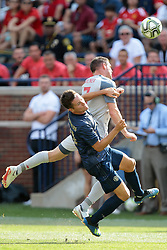 July 28, 2018 - Ann Arbor, Michigan, United States - James Milner (7) of Liverpool and Ander Herrera (21) of Manchester United collide while fighting for possession of the ball during an International Champions Cup match between Manchester United and Liverpool at Michigan Stadium in Ann Arbor, Michigan USA, on Wednesday, July 28,  2018. (Credit Image: © Amy Lemus/NurPhoto via ZUMA Press)