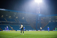 A wet Priestfields Stadium during the EFL Sky Bet League 1 match between Gillingham and Crewe Alexandra at the MEMS Priestfield Stadium, Gillingham, England on 26 January 2021.