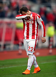 Stoke City's Xherdan Shaqiri after the match