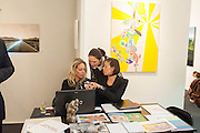 SALON VERT; RAFFAELLA GALLIANO; ANNA LAPSHINA; KRISTINA DUTCHAK, 2013 London Art Fair vip private view.  Business Design Centre, Upper Street, London, 15 January 2013