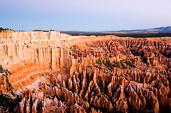 Bryce Canyon National Park, Ampitheater and Hoodoos of Silent City from Bryce Point, dawn, erosion, arid, Utah, UT, Southwest America, American Southwest, US, United States, Image ut350-17570, Photo copyright: Lee Foster, www.fostertravel.com, lee@fostertravel.com, 510-549-2202
