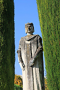 Royal statue in the gardens of the Alcázar de los Reyes Cristianos, Alcazar, Cordoba, Spain