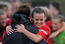 Georgia Evans of Bristol City Women celebrates her teams win - Mandatory by-line: Paul Knight/JMP - 24/09/2016 - FOOTBALL - Stoke Gifford Stadium - Bristol, England - Bristol City Women v Durham Ladies - FA Women's Super League 2