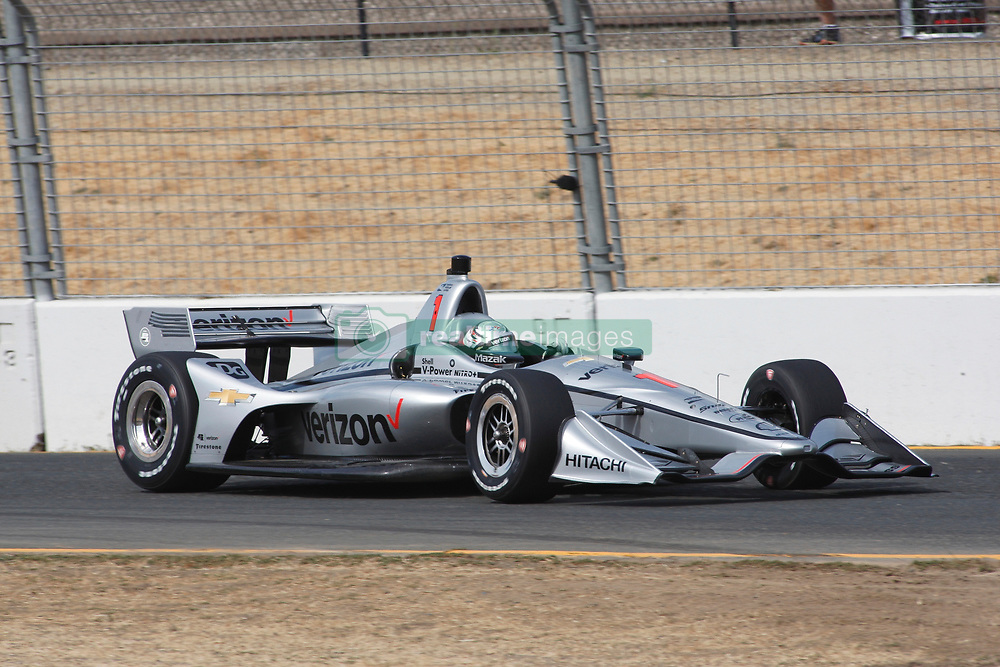 September 14, 2018 - Sonoma, CA, U.S. - SONOMA, CA - SEPTEMBER 14: Josef Newgarden is seen during the afternoon Verizon IndyCar Series practice for the Grand Prix of Sonoma on September 14, 2018, at Sonoma Raceway in Sonoma, CA. (Photo by Larry Placido/Icon Sportswire) (Credit Image: © Larry Placido/Icon SMI via ZUMA Press)