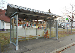 Germany, Stegen  (near Freiburg In Breisgau) - November 20, 2018.Trust basis. Free Library. Open bookcase. Books for free station..Bus stop offering book exchange and book for free  (Credit Image: © Antonio Pisacreta/Ropi via ZUMA Press)