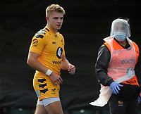 Rugby Union - 2019 / 202 Gallagher Premiership - Saracens vs Wasps<br /> <br /> Charlie Atkinson of Wasps leaves the field injured after being tackled by Owen Farrell who received the red card   , at Allianz Park.<br /> <br /> COLORSPORT/ANDREW COWIE
