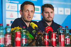 Aleksander Sekulic during press conference at arrival of Slovenian national team from Tokio 2020 Olympic games, 8. August 2021, Airport Jozeta Pucnika, Ljubljana, Slovenia. Photo by Grega Valancic