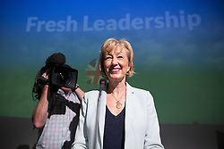 © Licensed to London News Pictures . 07/07/2016 . London , UK . Conservative Party leadership candidate ANDREA LEADSOM delivers a speech at Millbank Tower in Westminster , this morning (Thursday 7th July 2016) . Photo credit : Joel Goodman/LNP
