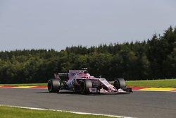 August 25, 2017 - Francorchamps, Belgium - ESTEBAN OCON of France and Sahara Force India F1 team drives during practice session of the 2017 Formula 1 Belgian Grand Prix in Francorchamps, Belgium. (Credit Image: © James Gasperotti via ZUMA Wire)