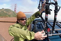 Jason Reale mountain biking the Marin Headlands, Golden Gate National Recreation Area. San Francisco,  CA