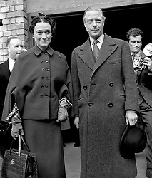File photo dated 14/4/1949 of the Duke and Duchess of Windsor at Victoria Station, London. Almost 70 years ago an abdicated king returned from the US for a royal funeral, while his American wife was absent. Issue date: Thursday April 15, 2021.