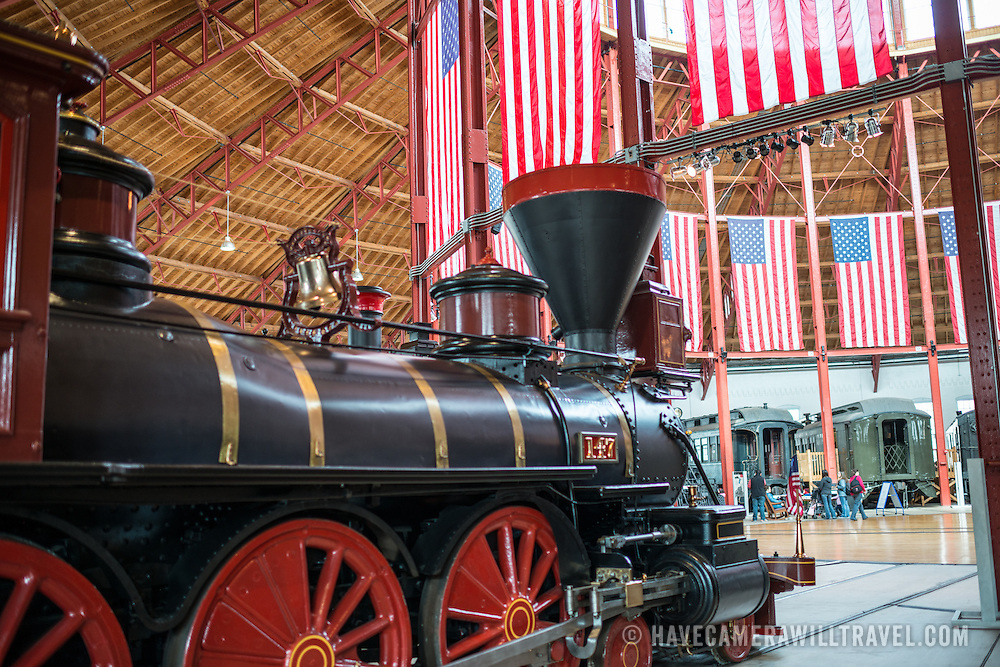 B&O No. 147 Thatcher Perkins, a 4-6-0 classification locomative built in 1863 on display at the B&O Railroad Museum. The B&O Railroad Museum in Mount Clare in Baltimore, Maryland, has the largest collection of 19th-century locomotives in the United States.