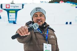 Bojan Makovec during parallel slalom FIS Snowboard Alpine World Championships 2021 on March 2nd 2021 on Rogla, Slovenia. Photo by Grega Valancic / Sportida