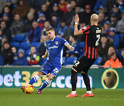 Cardiff City's Stuart O'Keefe in action during the Sky Bet Championship match between Cardiff City and Brighton & Hove Albion at Cardiff City Stadium on 10 February 2015 in Cardiff, Wales - Photo mandatory by-line: Paul Knight/JMP - Mobile: 07966 386802 - 10/02/2015 - SPORT - Football - Cardiff - Cardiff City Stadium - Cardiff City v Brighton & Hove Albion - Sky Bet Championship