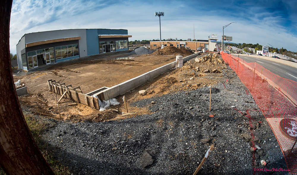 The building that housed Liberty Travel across from Pep Boys along MacArthur Road in Whitehall Twp., Lehigh County, Pa. has been demolished. It is being rebuilt. Picture made Oct., 2019. Donna Fisher Photography, LLC