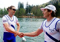 Luka Spik and Iztok Cop of VK Bled at 51st Prvomajska Regatta Bled 2010, on April 25, 2010, at Lake Bled, Bled, Slovenia. (Photo by Vid Ponikvar / Sportida)