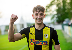 Gasper Trdin of Kalcer Radomlje celebrates after qualilfying to the First Slovenian league Prva liga during football match between NK Kalcer Radomlje and NK Brezice Terme Catez in 20th Round of 2. SNL 2020/21, on May 15, 2021 in Sports park Radomlje, Slovenia. Photo by Vid Ponikvar / Sportida