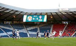 General view of match action during the International Friendly match at Hampden Park, Glasgow.