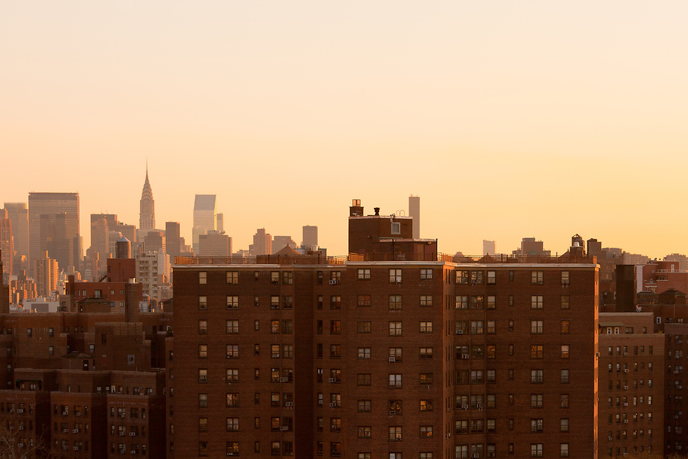 Housing projects at downtown Manhattan, New York City, United States
