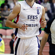 Efes Pilsen's Igor RAKOCEVIC during their Turkish Basketball league Play Off Final first leg match Efes Pilsen between Fenerbahce Ulker at the Ayhan Sahenk Arena in Istanbul Turkey on Thursday 20 May 2010. Photo by Aykut AKICI/TURKPIX